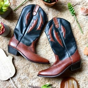 {Dolcis Genuine Leather} Western Cowboy Boots, 6.5